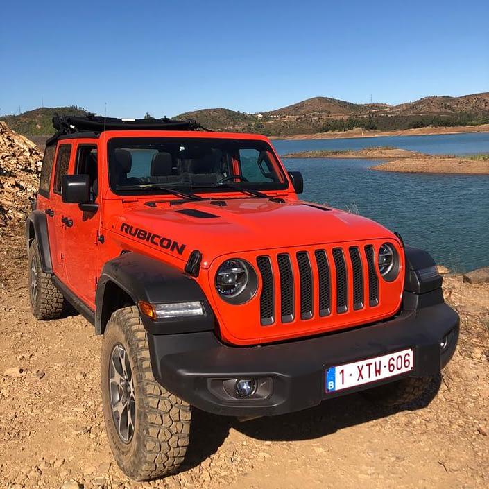 Jeep Wrangler in de Algarve